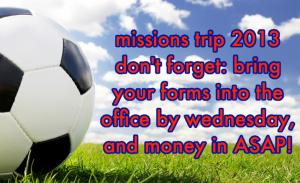 missions trip advert