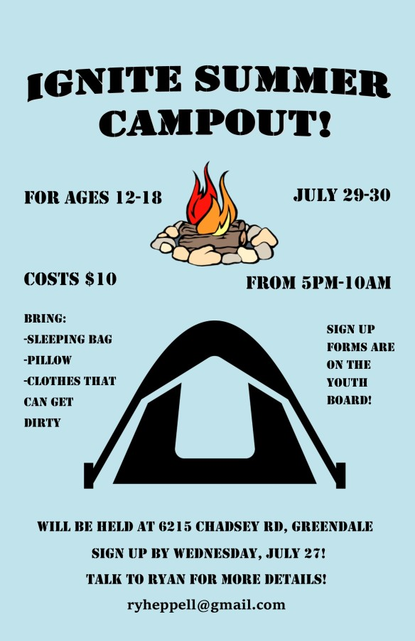 Youth Campout Poster
