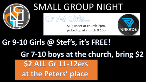 Small Groups Night